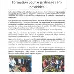 FORMATION - JARDINAGE SANS PESTICIDES
